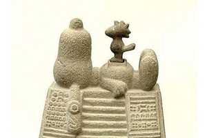 Nadin Ospina's Ancient Sculptures Depict Pop Culture Figures