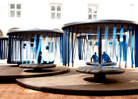 Calming Carousel Installations - Quiet Motion Invites People to Seek Peace on Pivoting Platforms