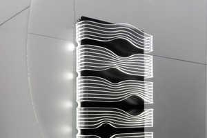 The James di Marco SHINE is a Futuristic LED-Illuminated Heating System
