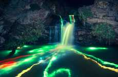 Glow Stick Streamed Waterfalls