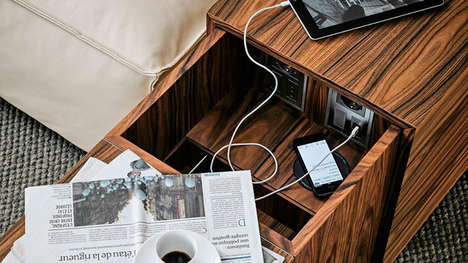 Tech-Charging Furniture - The Philippe Starck My World Couch Accommodates Technology