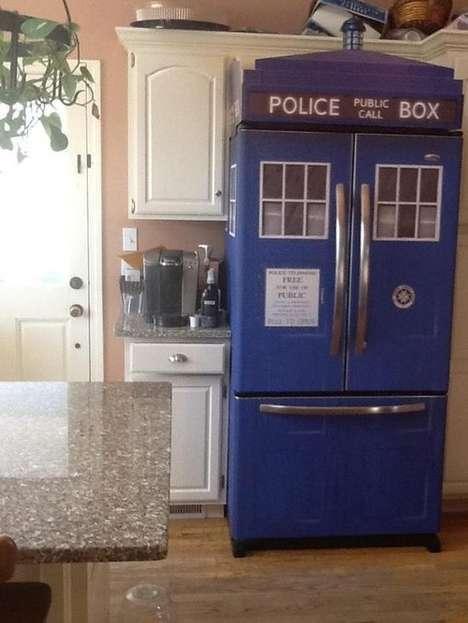 DIY Sci-Fi Fridges - Spherical Magic's Decals Will Provide Your Very Own TARDIS Fridge