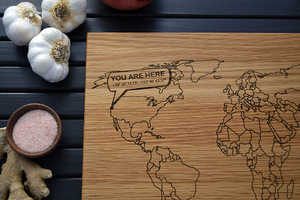Map Cutting Boards Encourage the Use of Cross-Cultural Flavors