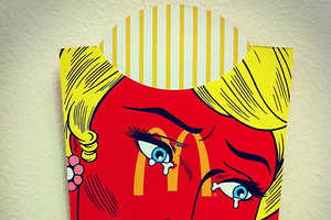 These Painted French Fry Containers Reference Pop Culture Iconography