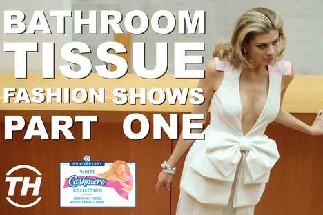 Bathroom Tissue Fashion Shows: Part I - Caitlin Cronenberg Shoots the White Cashmere Collection