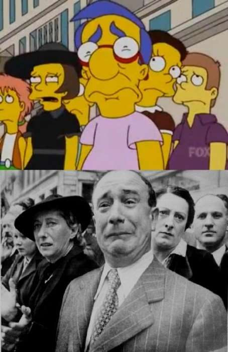 Simpsons Parodies on Famous Photographs