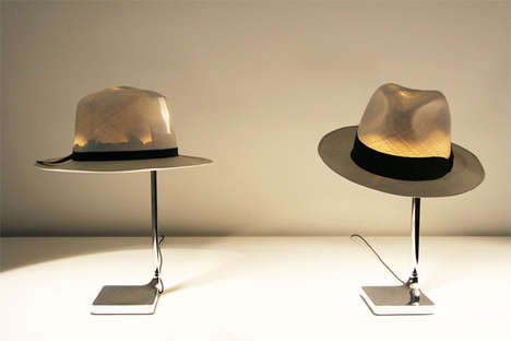 Fedora Light Fixtures - The Chapeau Light Makes Use of Your Very Own Hat as a Lampshade