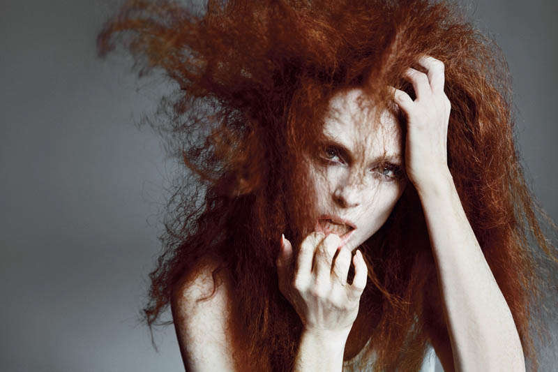 Frizzed-Out Red-Haired Editorials