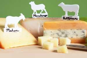 Writable ARTisan Cheese Markers Decorate Fancy Cheese Platters