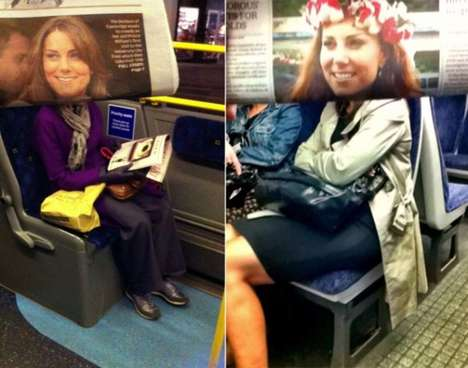 Hilarious Periodical Photo Bombs - An Anonymous Photographed Transit Passengers with Celebrity Faces
