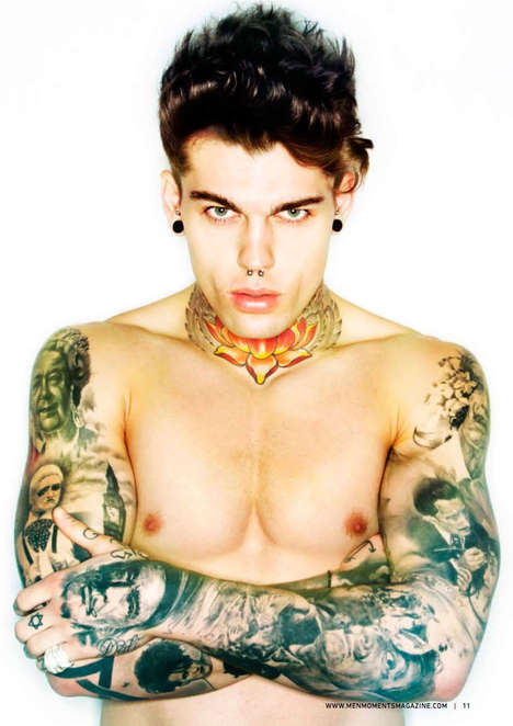 Vividly Inked Editorials - The Point of View Men Moments Magazine Photoshoot is Heavily Tattooed