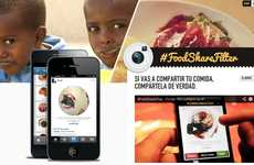 Social Good Photo Apps - FoodShareFilter is an Instagram Supported Filter That Profits an NGO