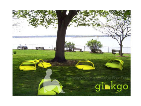 Leaf-Inspired Lawn Chairs - The Ginkgo Floor-Seat is a Comfy Perch for Being in Touch with the Turf
