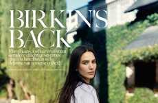 Retro Denim Editorials - The Vogue Netherlands 'Birkin's Back' Photoshoot Stars Mijo Mihaljcic