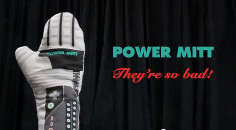 Gamer Baking Mitts - These Oven Mitts Based on the NES Power Glove are So Bad In an Awesome 80s Way
