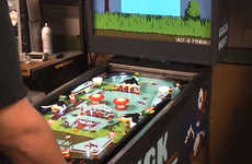 Fowl-Hunting Arcade Games  - This Duck Hunt Pinball Machine is a Customized Blast from the Past
