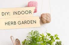 Homemade Herbivore Gardens - The Design Sponge Blog Shows How to Make a DIY Indoor Herb Garden