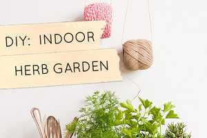 The Design Sponge Blog Shows How to Make a DIY Indoor Herb Garden