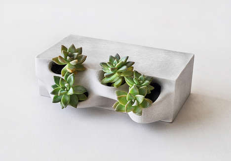 Garden-Embedded Masonry - Planter Bricks Let You Build Flower Pots Right Into Your Window Sills