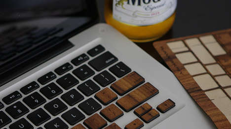 Macbook Wood Keyboard