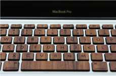 Macbook Wood Keyboard Brings Natural Texture to Your Streamlined Device