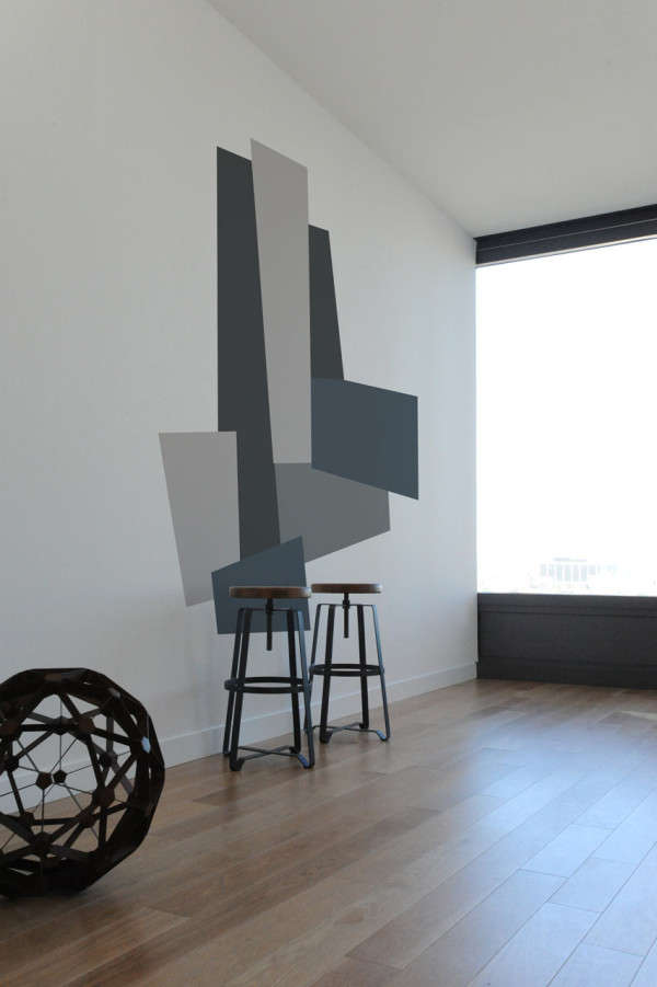 Color-Blocked Wall Decals