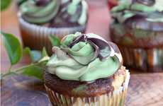 Cactus-Like Confections - The Camouflage Cupcakes by Lilly are Deliciously Manly
