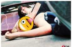 Disturbing Emoticon Driving Ads