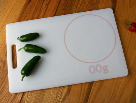 integrated cutting board scale