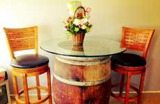 DIY Wine Barrel Tables - Transform Any Space into a Luxe Lounge Using Reclaimed Wine Containers