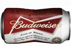 Dapper Beer Cans - Iconic Beer Brand Budweiser Introduces a Bow Tie-Shaped Can for 2013