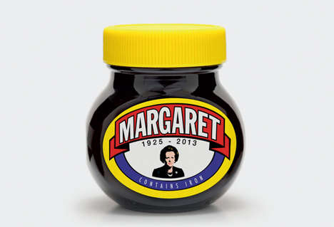 Politician Mocking Condiments - The Margaret Thatcher Marmite Mock Up Product Design Divides Opinion