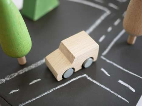 Minimalist Chalkboard Toy Sets - Machi by Kukkia Relies Heavily on the Imagination of Children