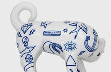 Inked Canine Ceramics - The Tattoo Dog by Goncalo Campos Showcases Cartooned Imagery