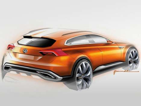 Speedy Hybrid Crossover Concepts - The Volkswagen CrossBlue Coupe Boasts a 415 Horsepower V6