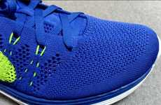 Vibrantly Knitted Runners - The Nike Lunar 1 Kicks Use Flyknit Technology to Help Athletes Soar
