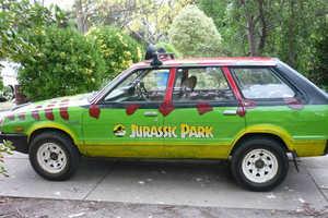 Two Boys Turn an Old Subaru into a Jurassic Park Car