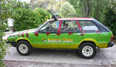 Safari Cinema-Replicated Cars - Two Boys Turn an Old Subaru into a Jurassic Park Car