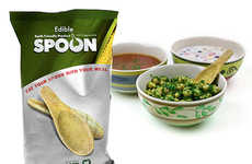 Tasty Flavorful Edible Spoons - These Dipping Spoons by Triangle Tree are 100% Digestible