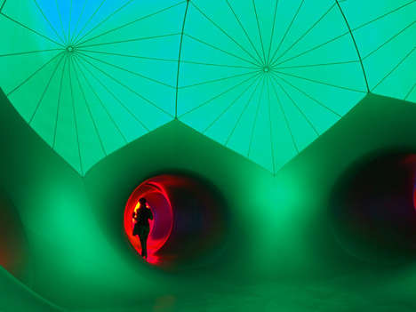 The EXXOPOLIS Luminarium is an Exhibition of Inflatable Domes
