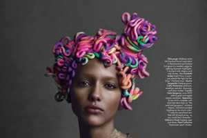 The W May 2013 Editorial Features Replaces Updos with Icing