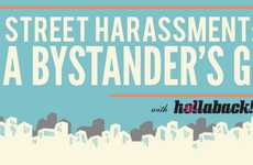 Bystander Bullying Advice Charts  - Discover Ways to Stop Street Harassment in This Infographic
