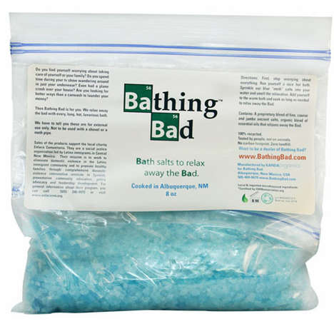 Drug-Inspired Bathtub Accessories - The 'Bathing Bad' Bath Salts Pays Tribute to the Iconic TV Show (TrendHunter.com)