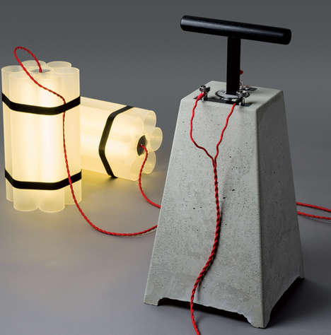 Detonative Lamp Designs - Mr. Boom and Little Miss Dynamite Light Sets are Dangerously Devious