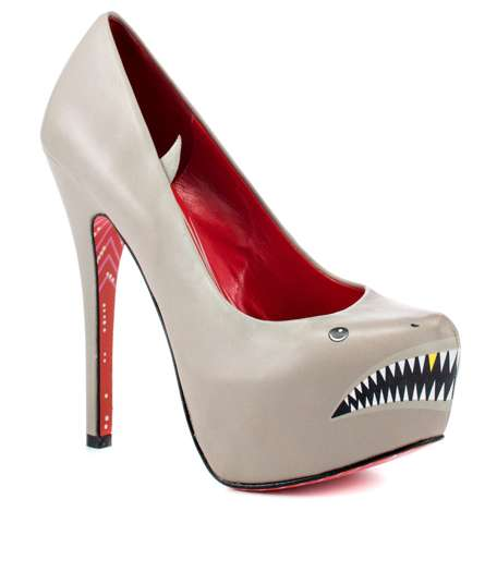Taylor Says Grey Sharkie Heels