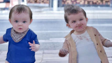 Mirroring Infant Image Ads  - This Evian Babies Commercial 'Baby & Me' Brings Back Dancing Tots