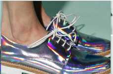 Metallically Futuristic Footwear