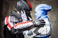 Romantic Sci-Fi Costume Photoshoots - These Costumes Capture the Mass Effect Games