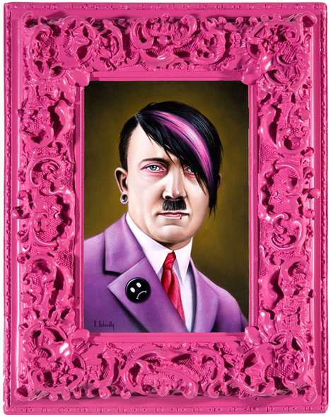 Effeminate Dictator Depictions - Artist Scott Scheidly Turns Notorious Leaders Into Gay Icons