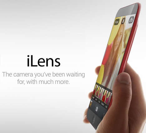 Hybrid Smartphone Camera Concepts - The Rishi Soman iLens Concept Design Promises Sleek Photography